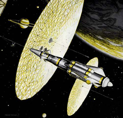 Ф. Тинсли «Корабли Солнечного Ветра у Титана» (1959)