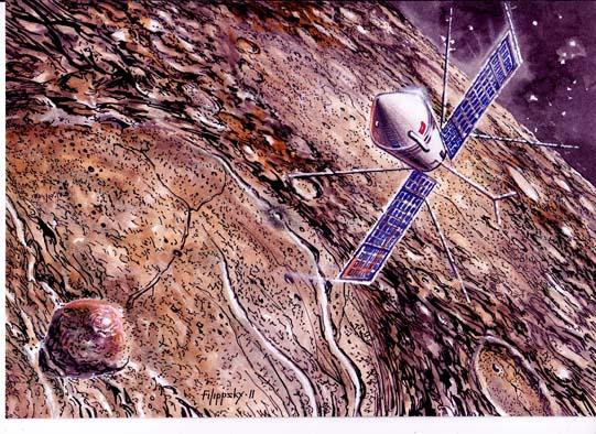 ЛК1-УР500К над кратером Альфонс.