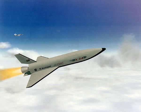 START и финиш американских космопланов. Часть 6 – X-34.