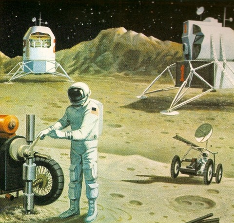 Лунные базы. Рестроспектива-1.