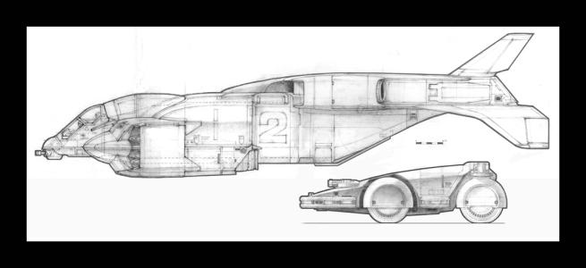 """Бронетранспортер и десантный корабль UD-4L """"Chyenne"""" – боковые проекции."""