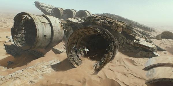 Космический корабль в пустыне - Звездные войны. Эпизод 7.