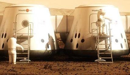 Марсианская станция - Люди на Марсе