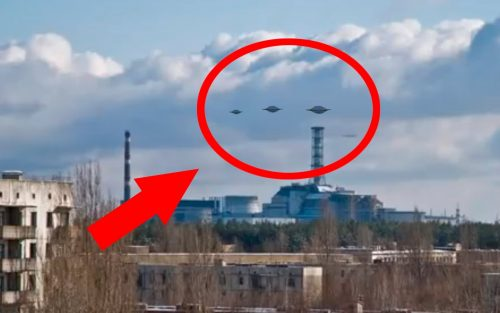 НЛО над атомной станцией Чернобль