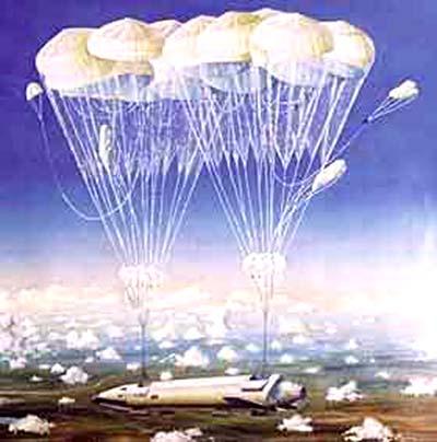 МТКВП - спуск на парашютах