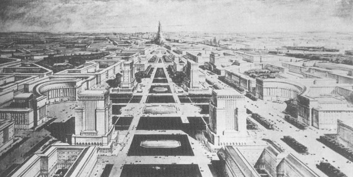 Декор Дворца советов крупным планом.
