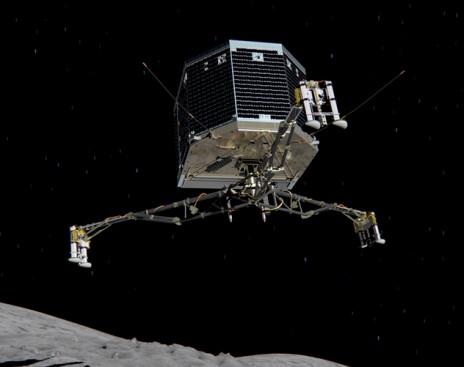 """Космический модуль """"Philae"""". """"Фила"""" верхом на комете!"""