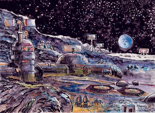 Советская военная база на Луне.