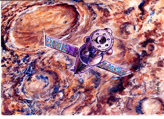 Район кратера Архимед, ЛОК проводит уточнение места посадки