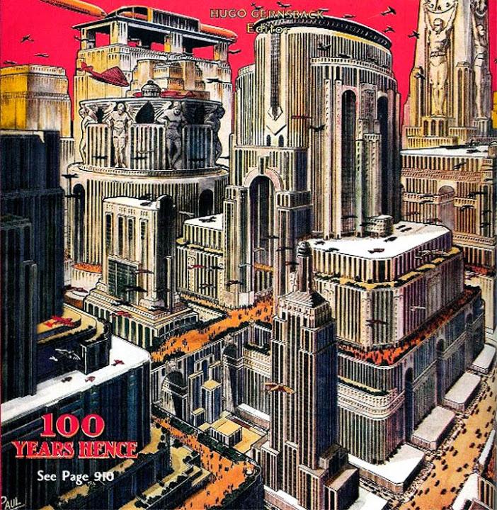 Здание на переднем плане похоже на концепт 1925 года.