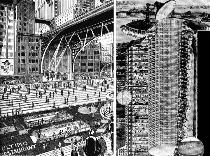 два концепта образца 1931 года – широкие пешеходные улицы