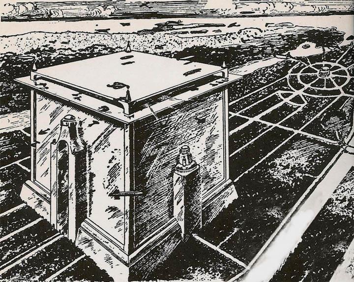 """""""Cube City"""" – рисунок небольшого """"города-куба"""""""