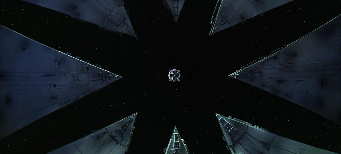 Вид из ангара на прилуняющийся Aries Ib.