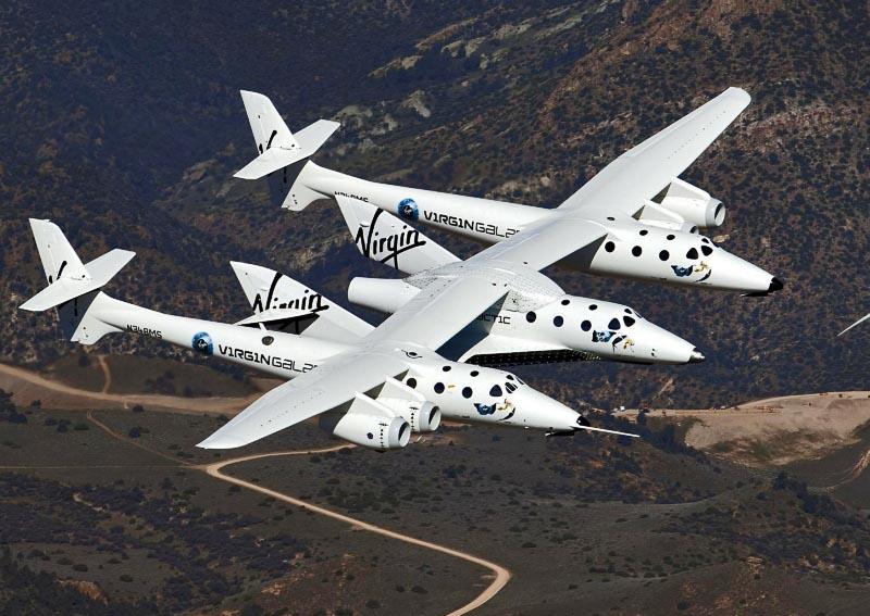 Самолет над землей - SpaceShipTwo