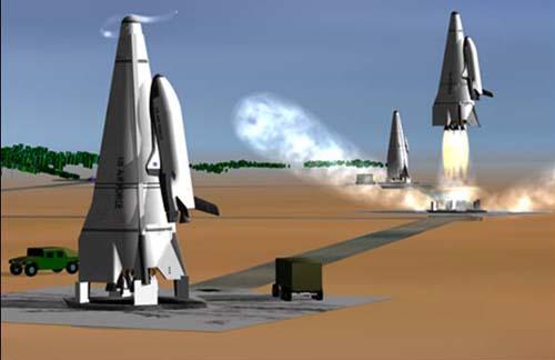 VTVL SSTO RLV – ракетно-космическая система вертикального взлёта.