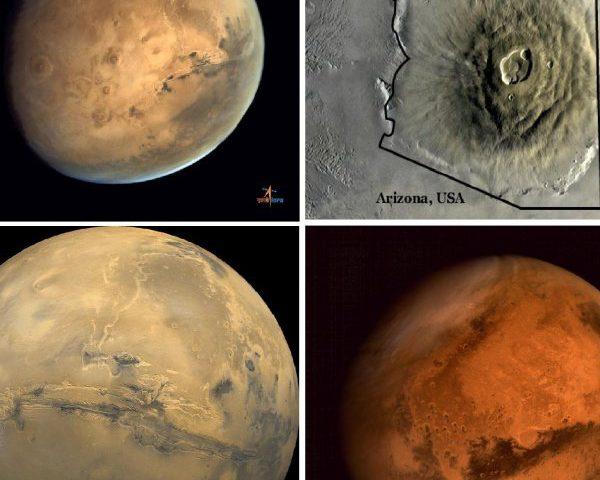 Аппарат MOM получил изображения крупнейшего вулкана на Марсе
