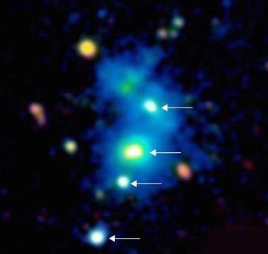 Астрономы открыли четверной квазар — уникальный космический объект
