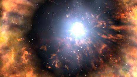 После взрыва сверхновая не оставила после себя звезды.