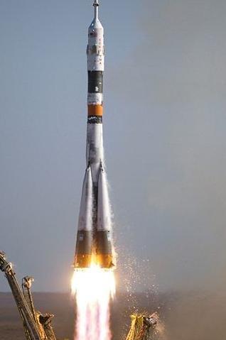 Старт космического корабля «Союз»