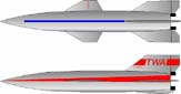пассажирская крылатая ракета Цзянь Сюсэня в окраске авиакомпании TWA (1949 г.)