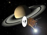 """""""Cassini"""" на орбите Сатурна (рисунок)"""