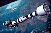 Проект космического корабля с ядерным двигателем выполненный по проекту NERVA