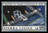 Космическая станция (почтовая марка, Сьерра-Леоне)