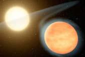 Экзопланета WASP-12b.с газообразной атмосферой насыщенной углеродом