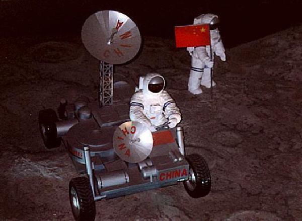 Китайский луноход - выставочная модель образца 2000 года