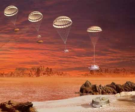 модуль Huygens отделился от Cassini и начал спуск к Титану