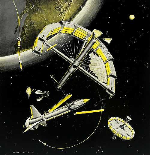 Ф. Тинсли «Монтаж станции в космосе» (1958)
