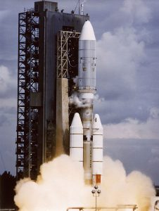 VOYAGER 2, ABOARD TITAN/CENTAUR-7, LIFTED OFF ON AUGUST 20, 1977. A MISSION TO THE OUTER PLANET.