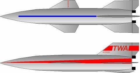 Первый опыт китайских коллег – ракетоплан Цзянь Сюсэня.