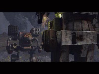 Сцена 1. Atlas с отстреленной конечностью встречает клановский Mad Cat.