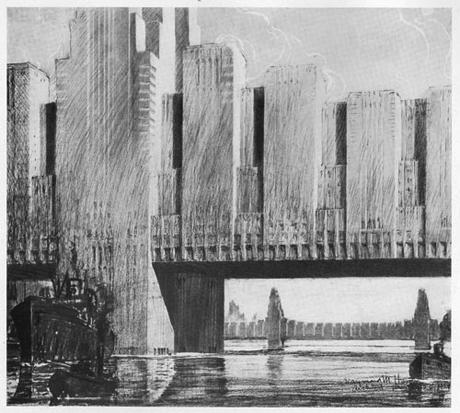 Концепт-арт мостов 1950 года