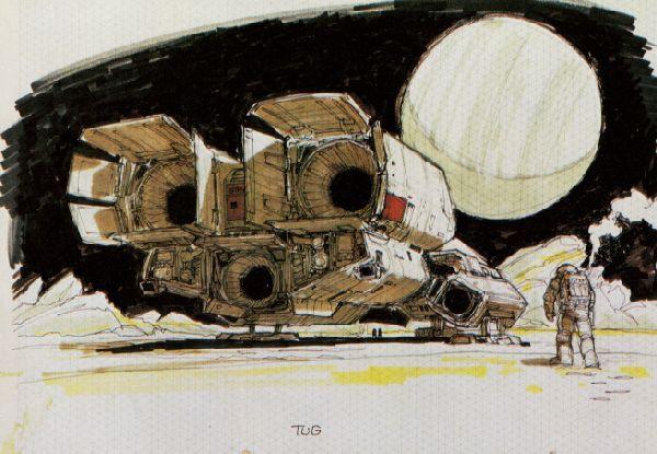 """Nostromo"" после посадки на планете LV-426."