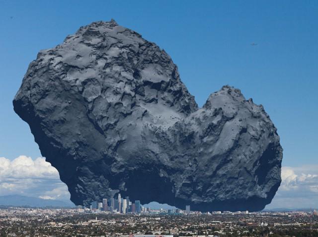 """Комета и """"Rosetta"""" - больше города"""