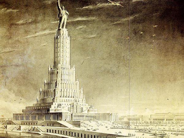 Проект Дворца Советов, 1930-е гг. Архитекторы Б.Иофан, В.Щуко, В.Гельфрейх.