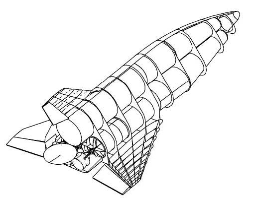 FSSC-15– проект одноступенчатой системы, который не предусматривал достижения орбитальных скоростей.