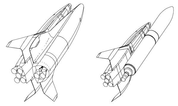 """проект FSSC-16FR с использованием ракеты """"Arian-5″ в качестве первой ступени"""