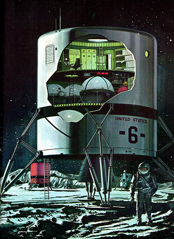 Один из предполагаемых вариантов космического комплекса LESA.