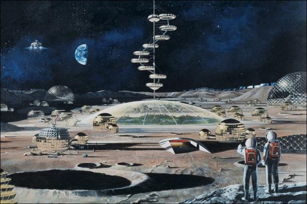 Американская лунная база. Концепт-арт