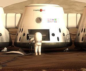 После высадки на Марсе колонисты должны будут построить туннелеобразные жилища