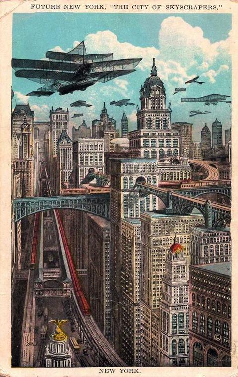 Примерно так мог выглядеть Нью-Йорк