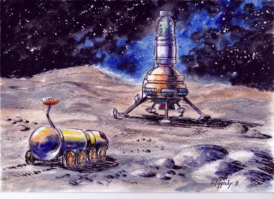 Проект Л4. Тяжелый ЛК опускается на Луну