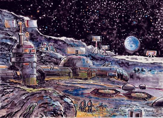 советская военная станция на Луне