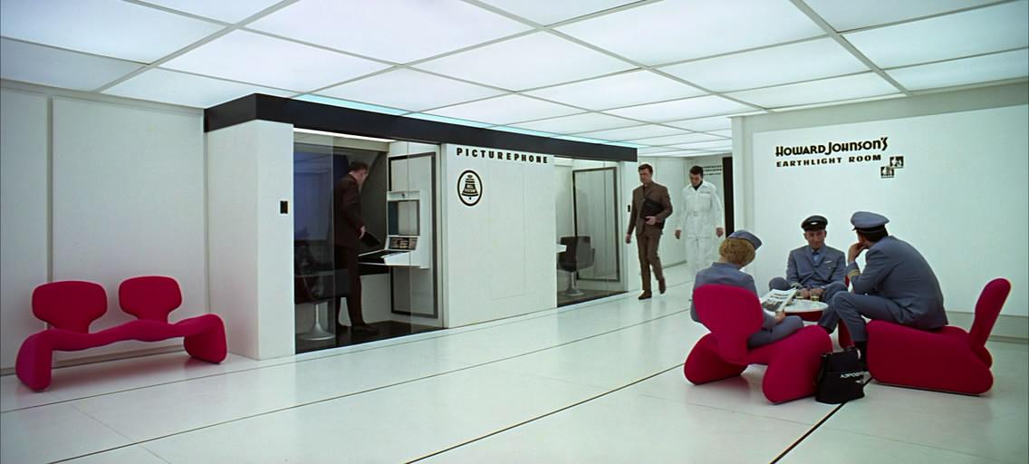 Интерьер Space Station V. Зона отдыха пилотов и переговорные комнаты.