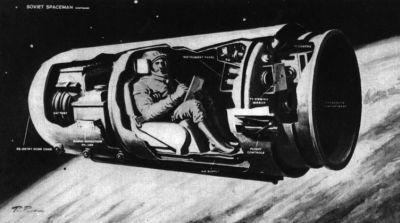 """полёт космического корабля """"Востока-1″"""