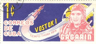 """Космический корабль """"Восток-1″ и филателия."""