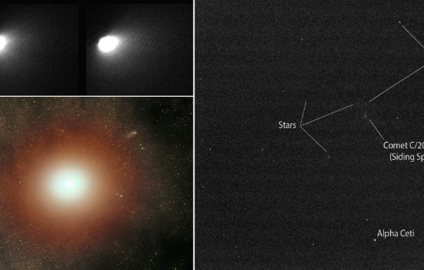 Изображения кометы Siding Spring передал орбитальный аппарат MRO
